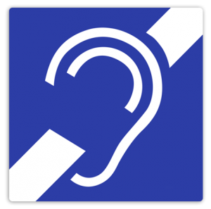 Induction signs – inductive hearing loop in the Spital Pharmacy Nuremberg